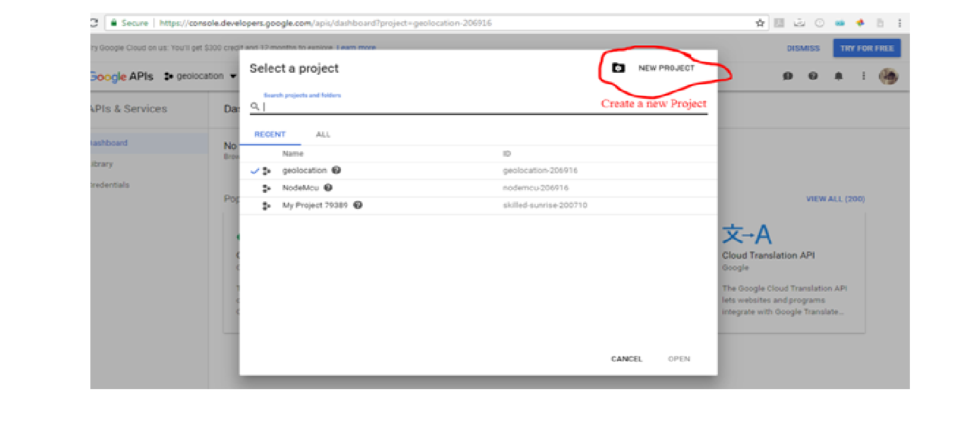 Picture of Find Google API