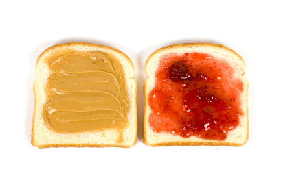 Picture of Spreading the Peanut Butter and Jelly on the Bread