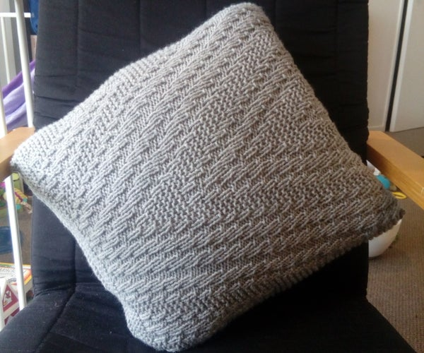 Knitted Rhombi Cushion Cover