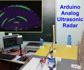 Arduino Analog Ultrasonic Radar