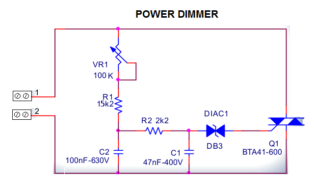 Picture of Setting Up the Power Dimmer