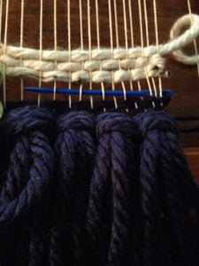 Weaving After the Large Knot
