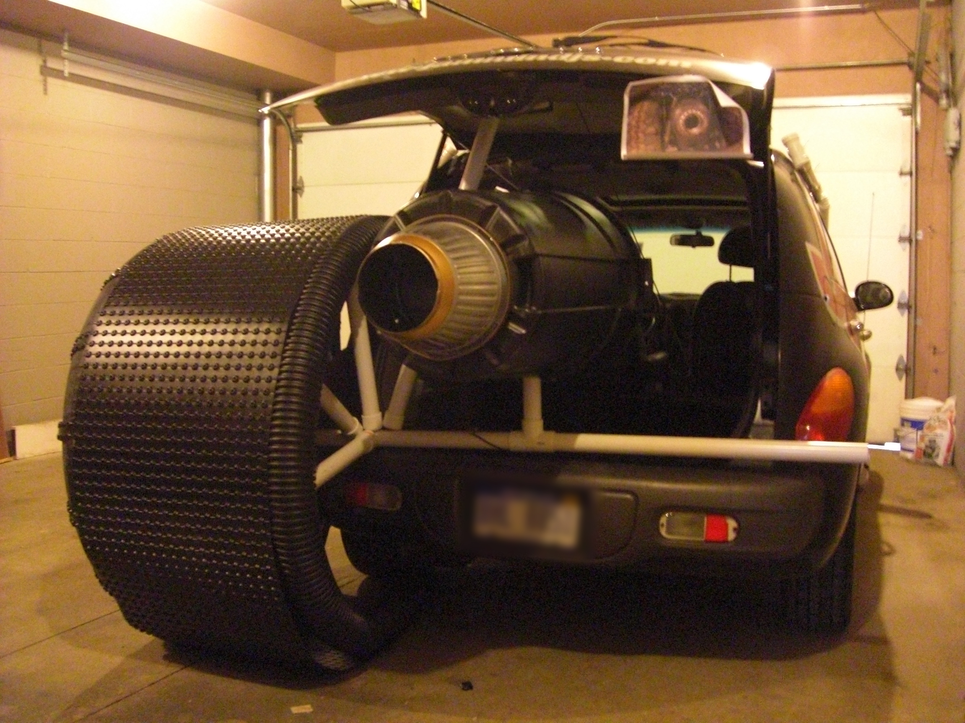 Picture of Rear Tires, Treads and Assembly (w/ Rocket Engine)