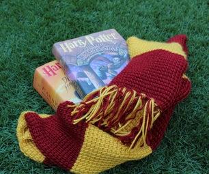 Tunisian Crochet Harry Potter's Gryffindor Scarf