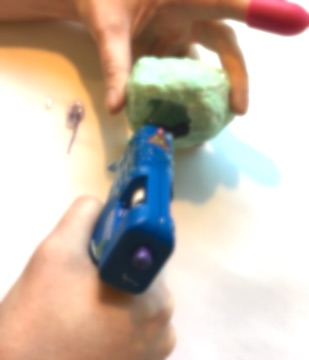 Picture of Making the Hot Glue Raspberry