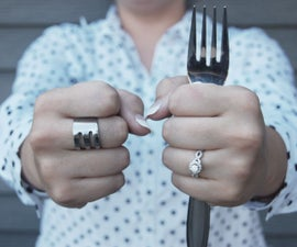 25 Cent Fork Ring