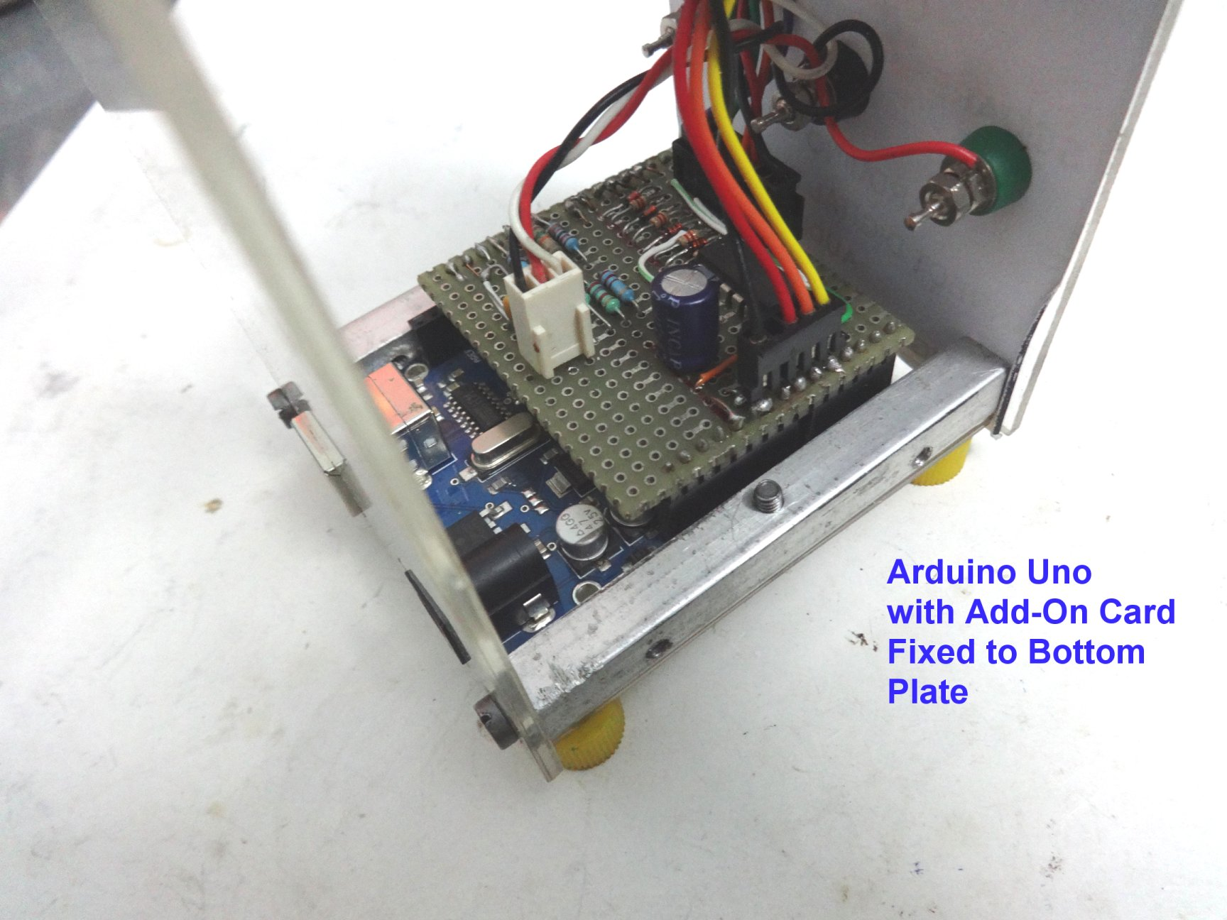Picture of Final Assembly of the Electronics