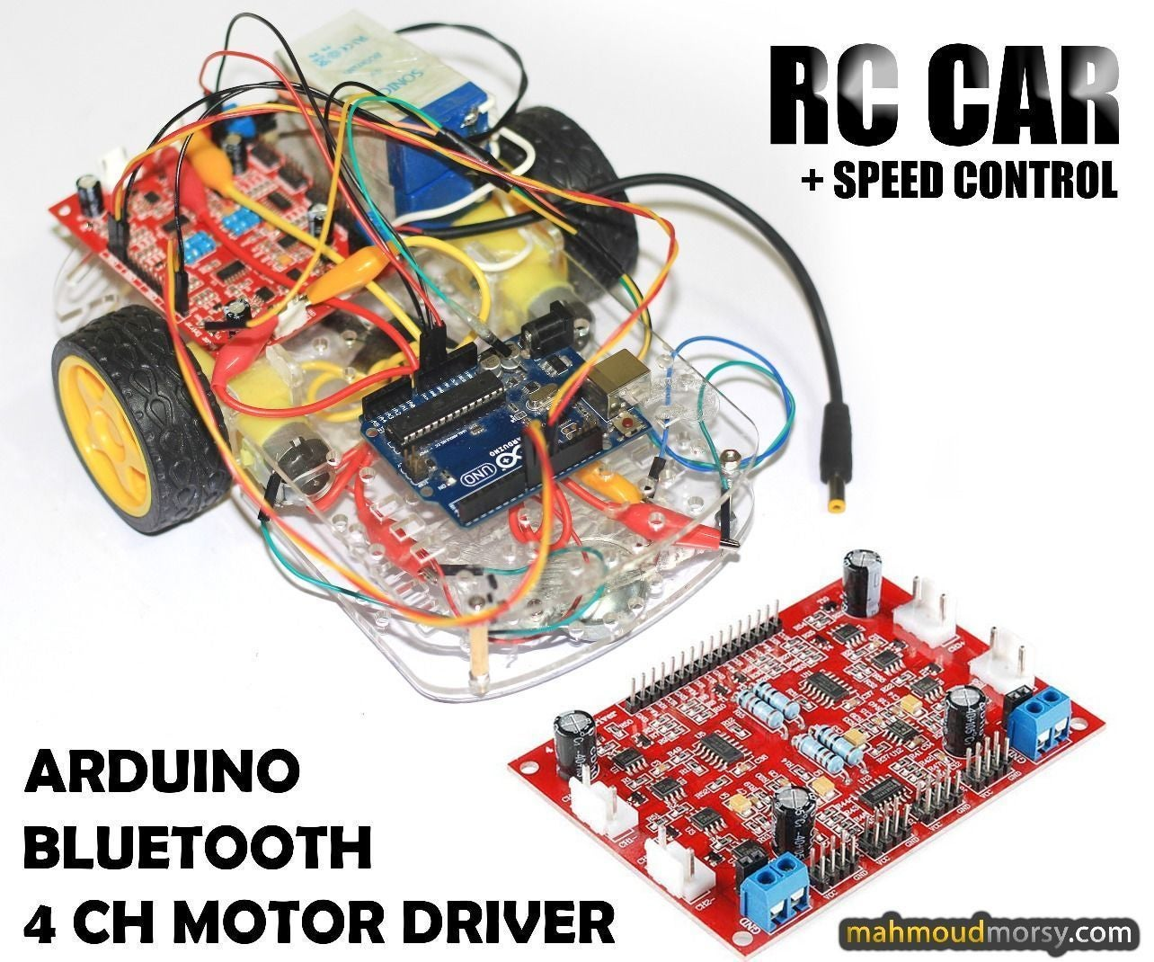 Speed Controlled Rc Car Using 4 Ch Motor Driver Controller Wire Race Wiring Arduino Bluetooth 12 Steps