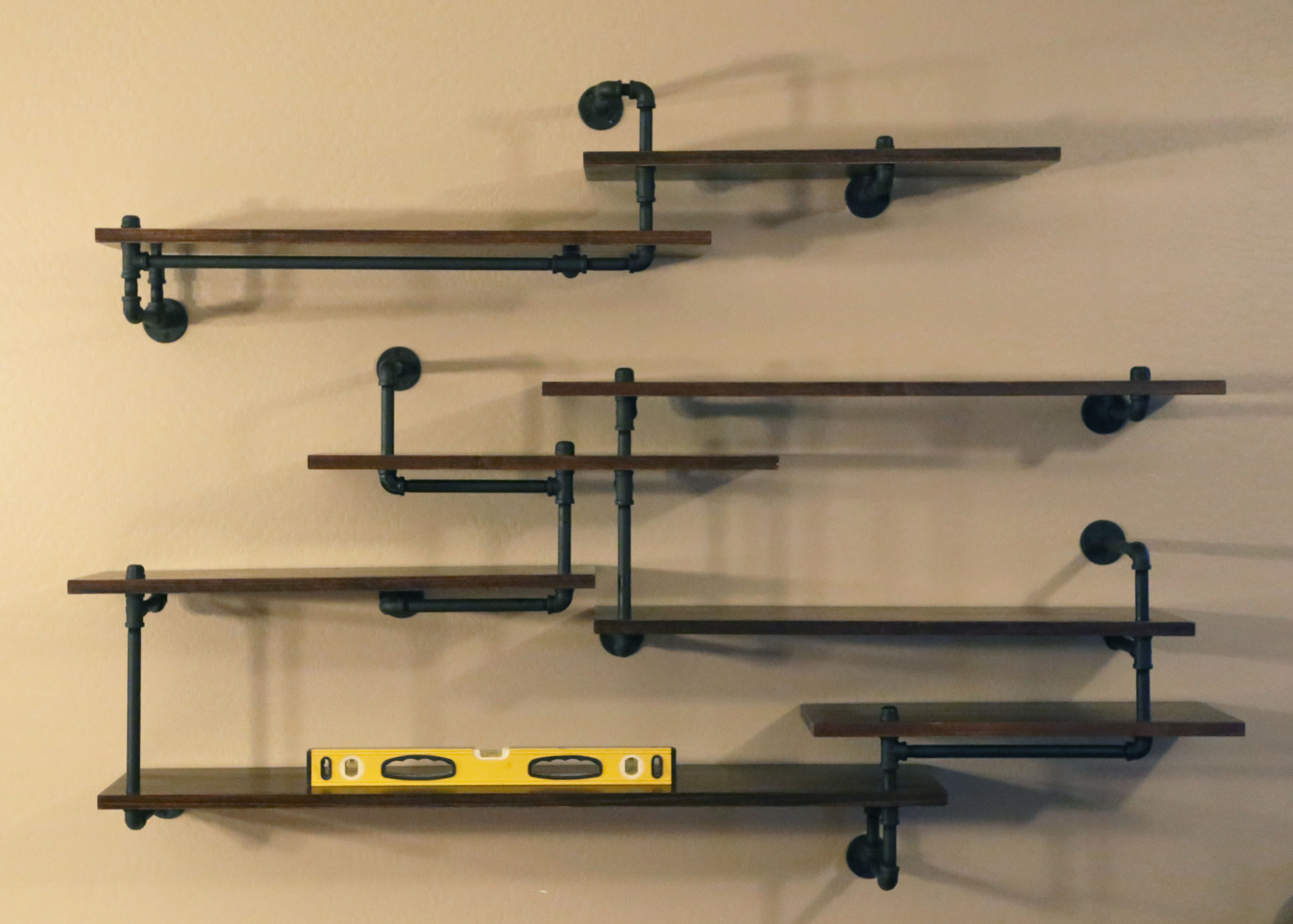 Picture of Industrial Pipe Shelving Built-In