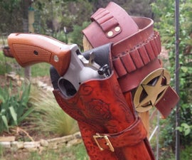 Cowboy / Western Style Leather Holster