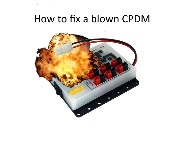 Picture of Repair a Blown CPDM (Core Power Distribution Module)