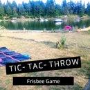 DIY Tic-Tac-Toss Frisbee Game