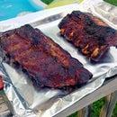 Smokey BBQ Ribs on Gas Grill