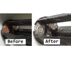 Cleaning Battery Sockets With Vinegar