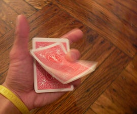 Deal/flick cards from a deck, with one hand