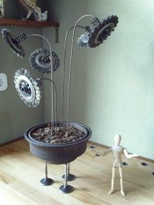 Full Metall Everlasting Flowerpot, Steampunkers Valentine, FULLMETALPLANT