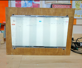 Wall Mounted Google Calendar (With a Recycled Monitor)