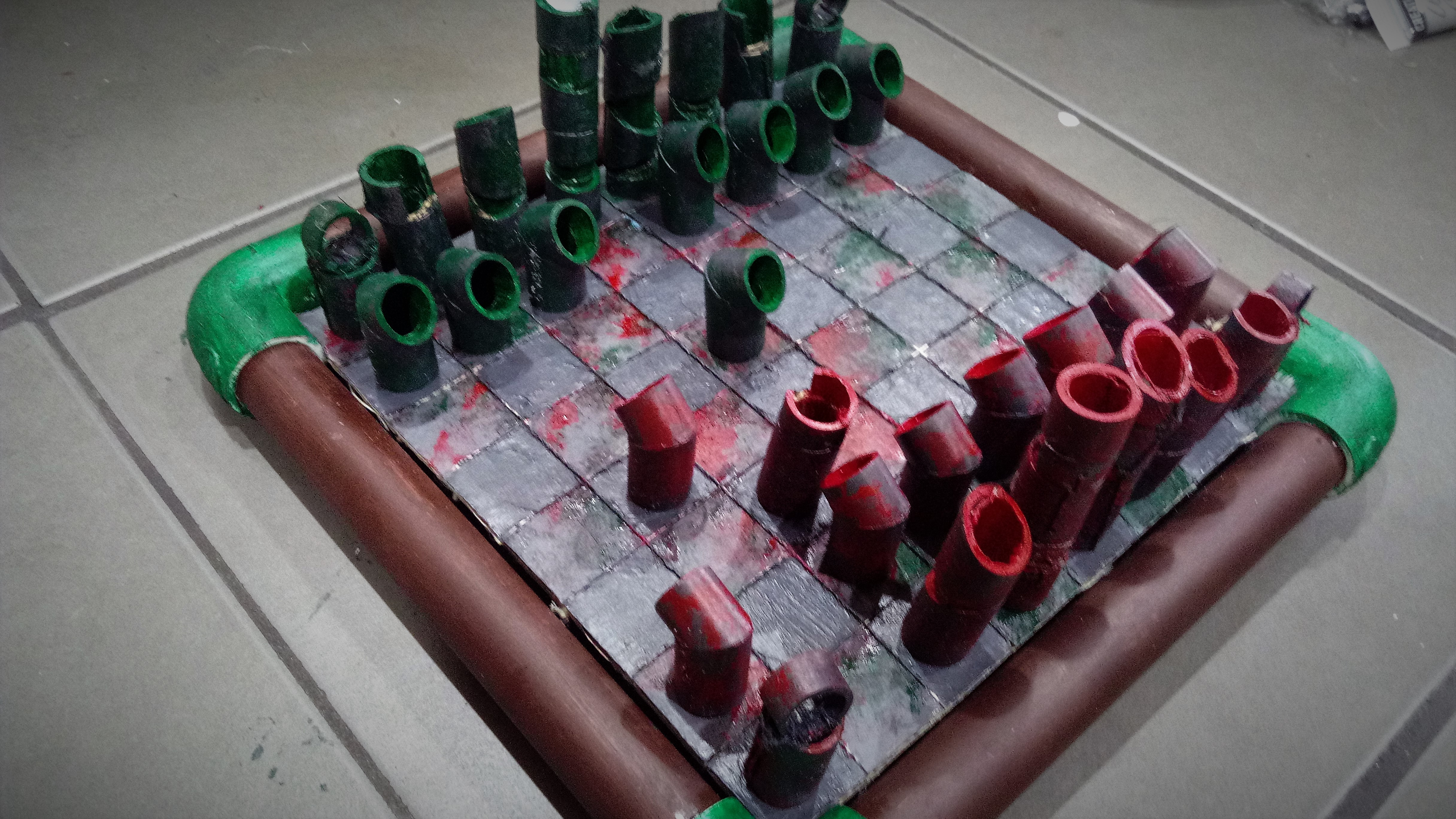 Picture of Arrange, Play and Enjoy the Newly Made Chess Board