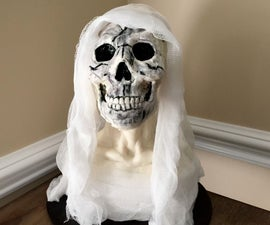 Rice Krispies Sculpting: Day of the Dead Virgin Mary Bust
