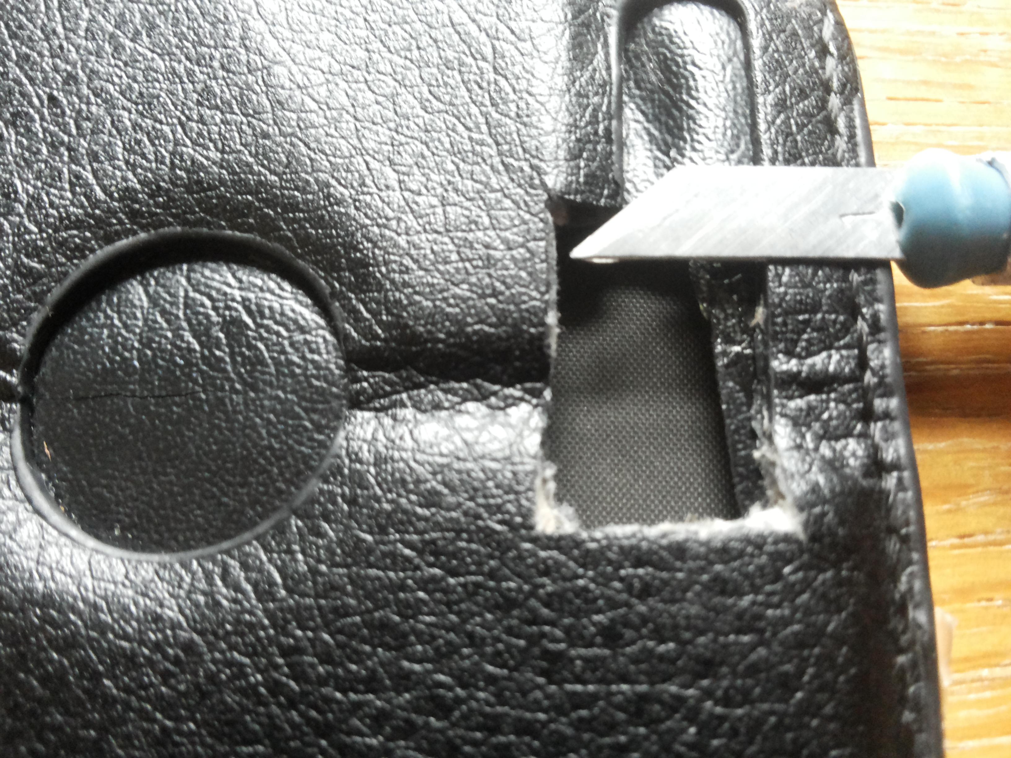 Picture of Create Holes for Camera/ Speaker/ Etc.