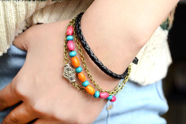 Picture of Cool Boho Style Leather Bracelet