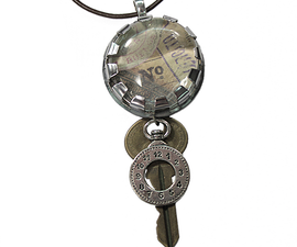 """""""Hardware Store Jewelry"""" Altered Art Charm Necklace Tutorial"""