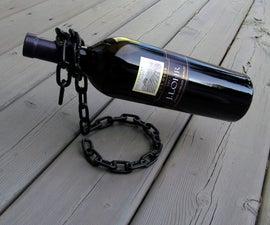 """""""Floating"""" Chain Wine Bottle Holder"""