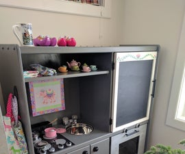 Play Kitchen from old entertainment centre