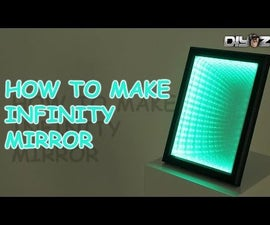 Optical illusion mirror. (infinity mirror)