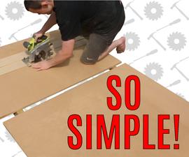 How to Break Down Sheet Material Easily!