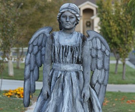 Weeping angel or statue costume