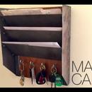 Steel & Wood Mail & Key Organizer