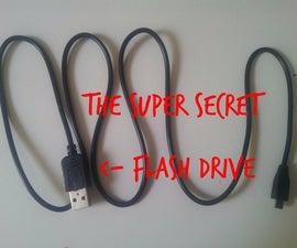 Secret Flash Drive inside an USB cable