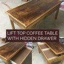 Lift Top Coffee Table W/ Hidden Drawer.