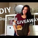 Dog Sling DIY & GIVEAWAY