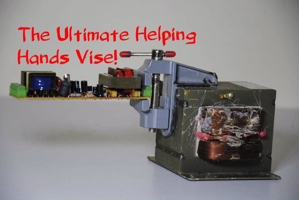 Picture of WAVE - the World's Simplest DIY Soldering Vise! (PCB Helping Hands)