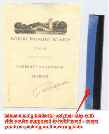 Picture of Easily Remove Wine Label for Collecting