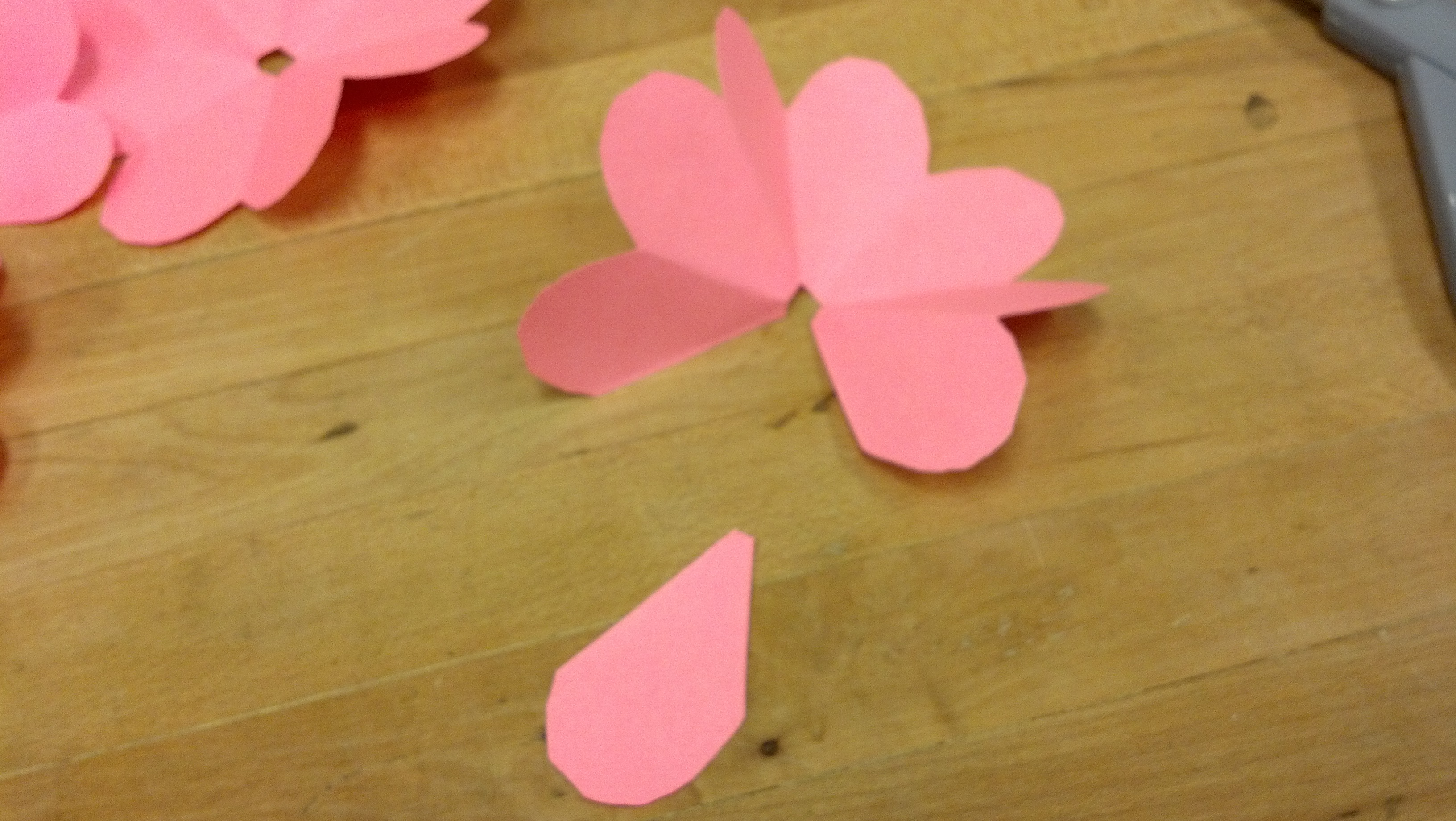 Picture of Cutting Out the Petals and Preparing to Create Flowers and Petals