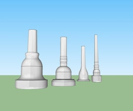 3D Printable Tuba, Trombone, French Horn and Trumpet Mouthpieces
