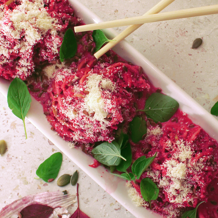 Picture of Raw Beetroot Zucchini Pasta
