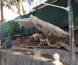 Soaring Eagle Wind Chime From Palm Tree
