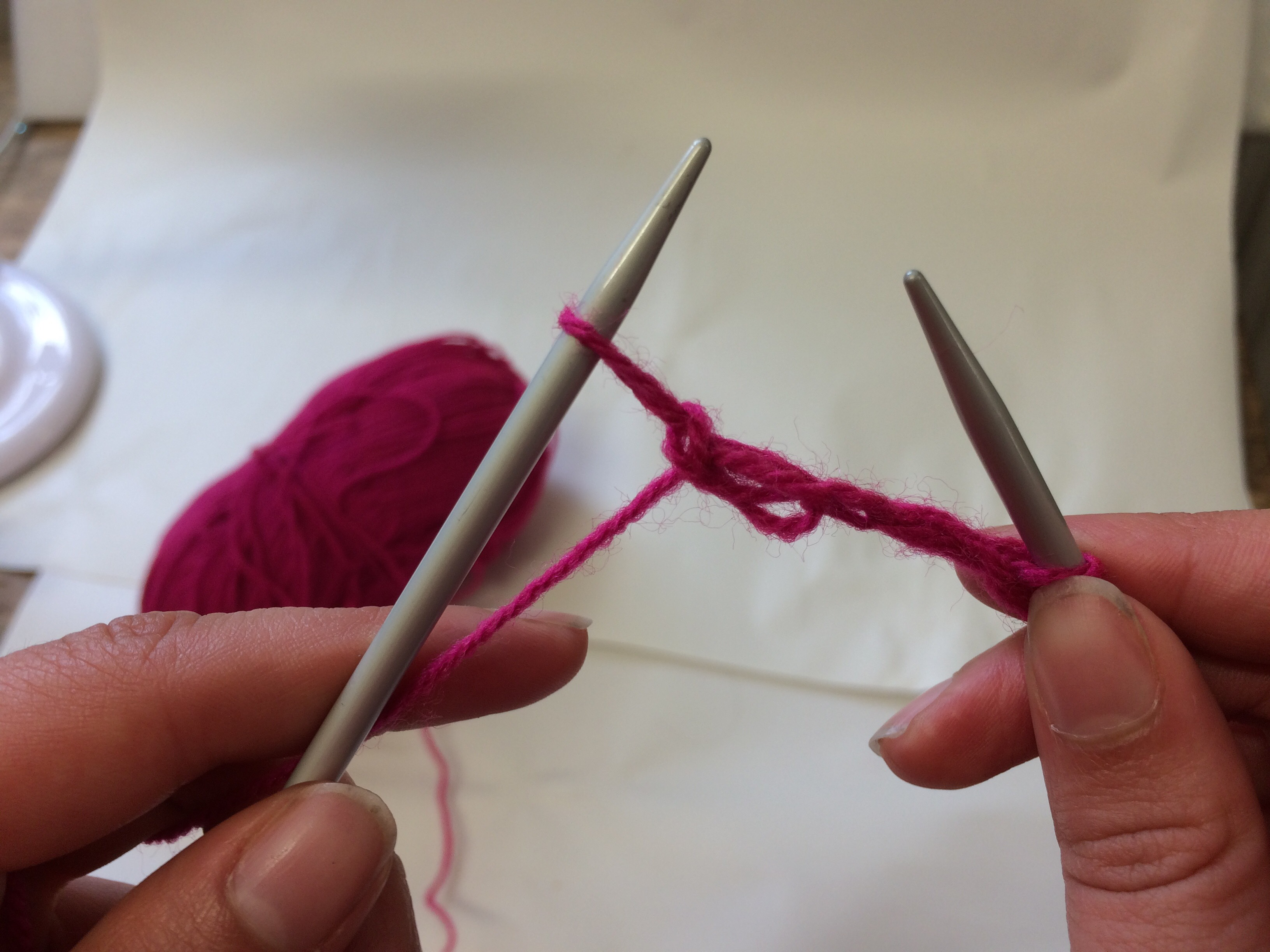 Picture of Knitting a Stitch