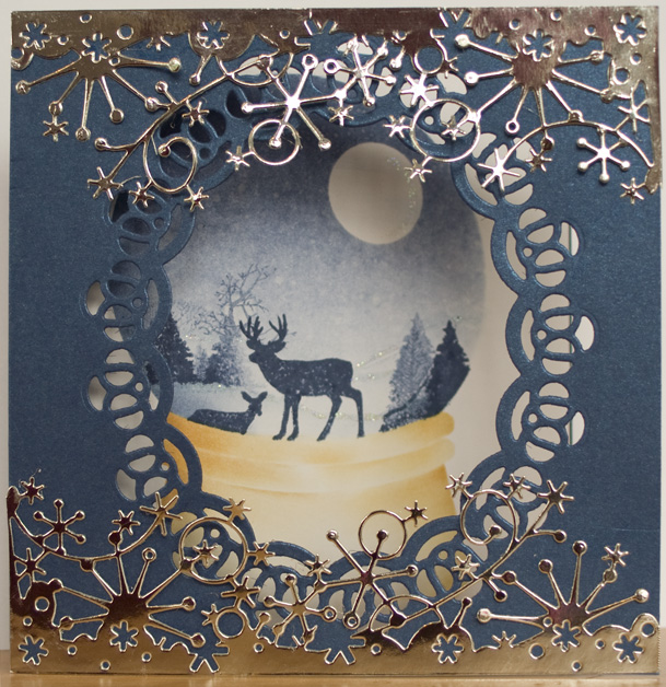 Picture of Stamped Snowglobe Card