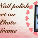 Glass Painting Photo Frame With Nail Polish - DIY