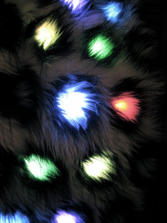 Picture of How to Make a Color-Changing Lighted Faux Fur Scarf