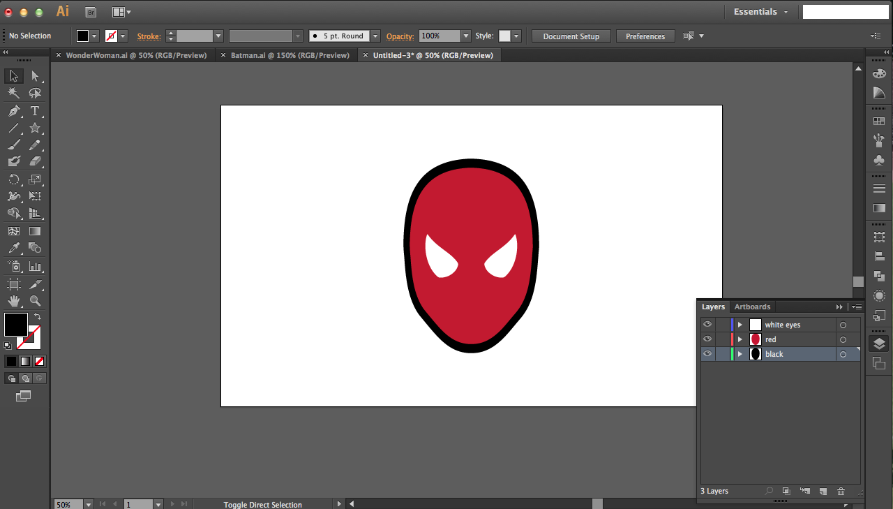 Picture of Spiderman: Clever Uses for the White Arrow and Shape Builder Tools
