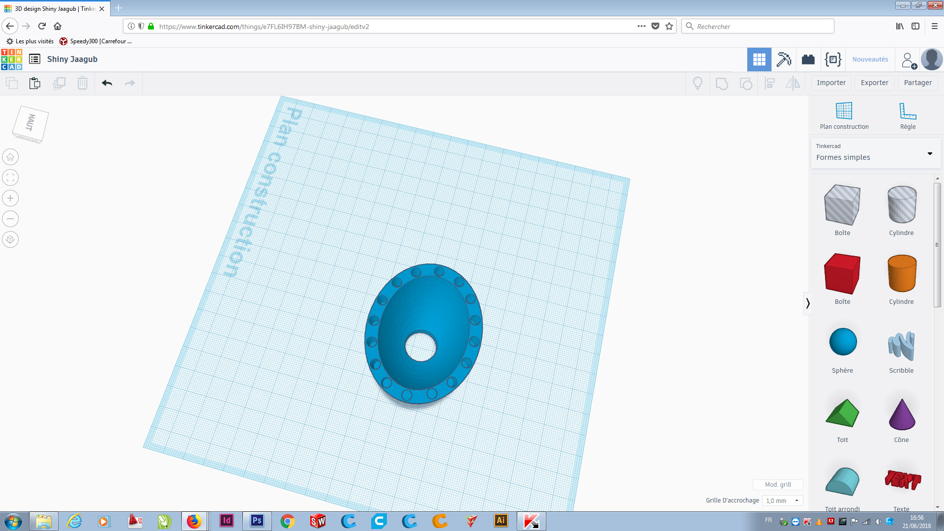 Picture of Design the Base on Thinkercad