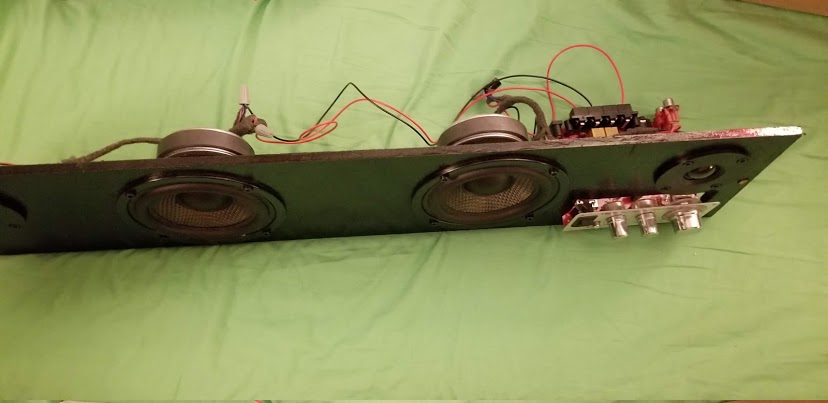 Picture of Cut Speaker and Amp Cutouts