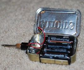 Make a battery powered soldering iron! In an Altoids tin?