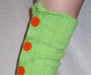 Long Button-Up Sweater Leg Warmers